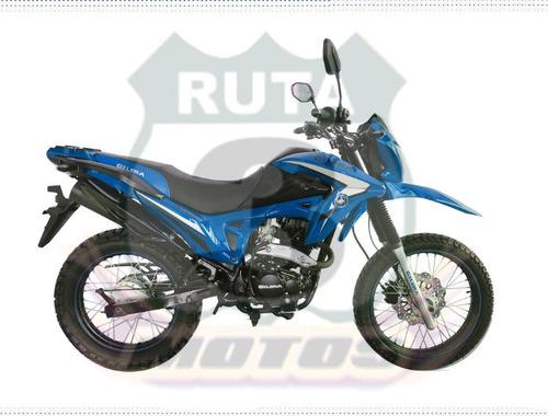 moto gilera smx 200 0km 2020 azul