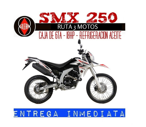 moto gilera smx 250 0km 2018 rojo