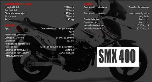 moto gilera smx 400 okm modelo 2017