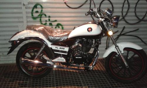 moto gilera yl 200 blanca chopera 2018 0km al 5/1