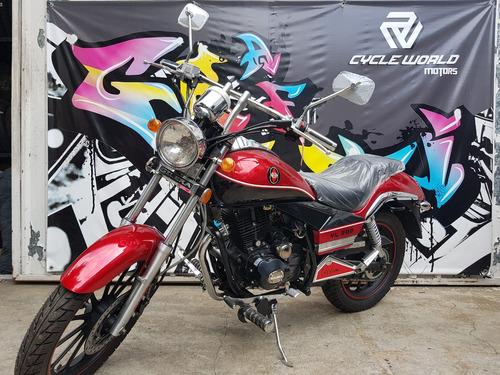 moto gilera yl 200 chopera 2018 0km rojo al 19/10