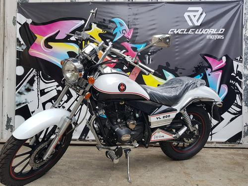 moto gilera yl 200 custom 2018 0km rojo al 19/10