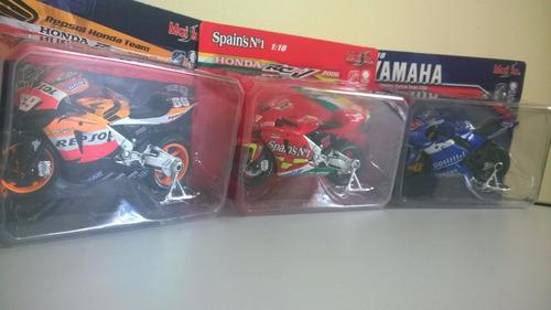 moto gp honda yamaha miniaturas kit com 03 escala 1:18