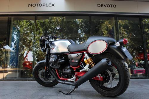 moto guzzi v7 iii racer - motoplex devoto - cafe racer bmw