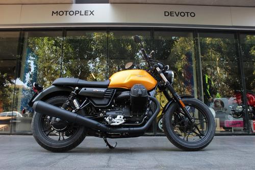 moto guzzi v7 iii stone amarilla custom - motoplex devoto