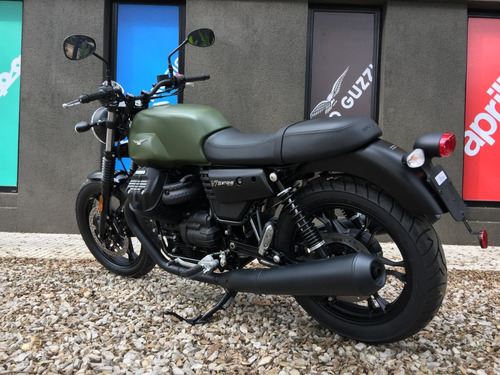 moto guzzi v7 iii verde mate 2018 abs - motoplex san isidro