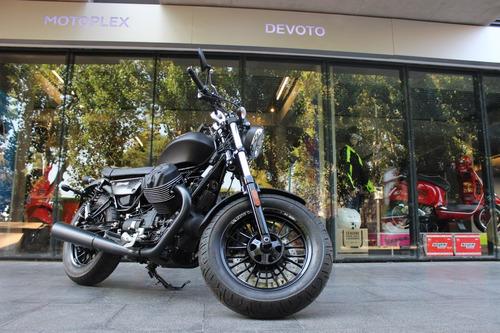 moto guzzi v9 bobber 0 km custom negra - motoplex devoto