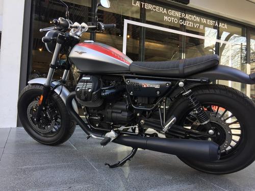 moto guzzi v9 bobber gris usada 2017 - motoplex devoto