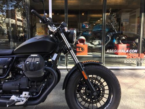 moto guzzi v9 bobber negra usada 2017 - motoplex devoto