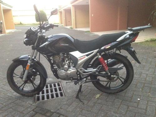 moto haojue 150-9a al día, con extras y accesorios
