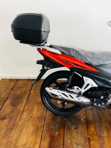 moto haojue nex 110 laranja com bau 2019 0km pronta entrega