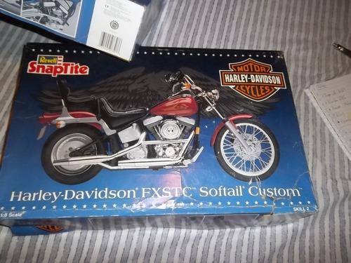 moto harley davidson bad boy para armar modelo a escala 1:8