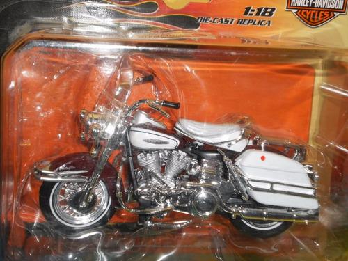 moto harley electra glide 1966 colección escala 1:18 maisto