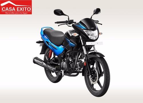 moto hero glamour 125cc año 2016 negro/rojo - azul