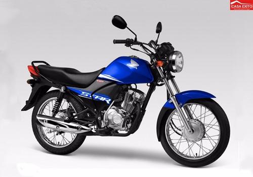 moto honda cb1 star mod cgx125whf 2016 col azul, negro, rojo