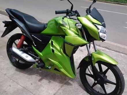 moto honda cbf125 stunner 2015 / verde/amarillo/negro/rojo
