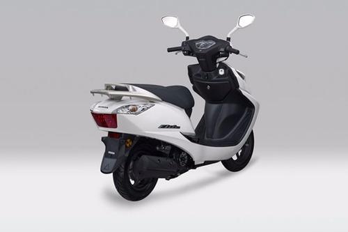 moto honda elite año 2014 colores azul, blanco, rojo