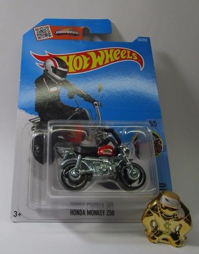 moto honda monkey escala miniatura coleccion hot wheels
