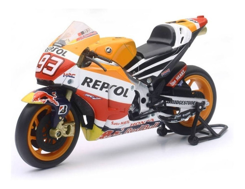 moto honda repsol red bull marc márquez escala 1:12 new ray