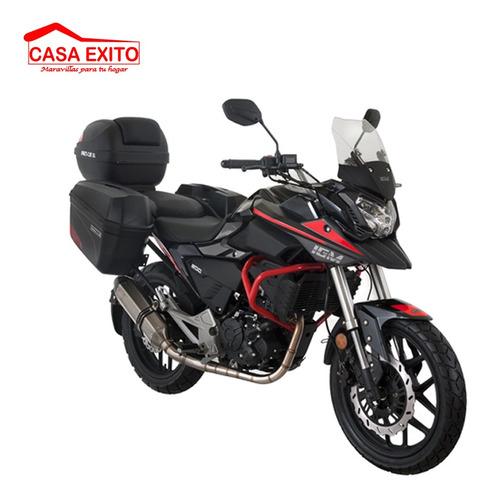 moto igm im200gti 200cc año 2020 color ne/ ro/ pl grand tur