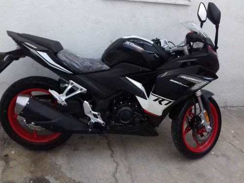 moto italika rt 250 cc 2017, negra
