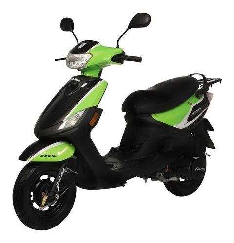 moto italika x 125 verde  mod. 2018 nueva + 2 casco gratis