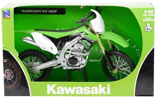 moto kawasaki kx 450 escala 1/12 grande new ray colección