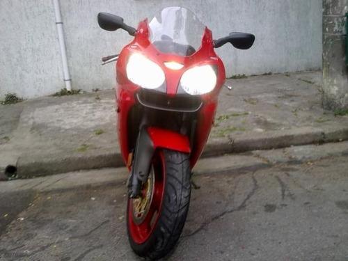 moto kawasaki zx6-r zx6r zx 6r ninja zx6 vermelha esportiva