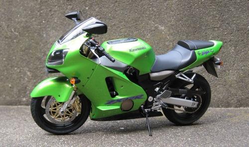 moto kit para armar kawasaki zx-12 escala 1:12 tamiya