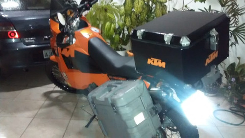 moto ktm 950 cc adventure impecável 2004 laranja e preta