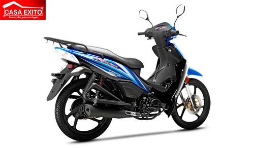 moto loncin  lx110-4iii 110cc año 2018 color rojo/azul/negro