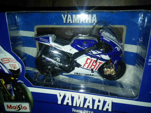 moto maisto / yamaha factory racing team 2008 escala 1:18