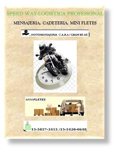 moto mensajería, cadeteria y mini fletes