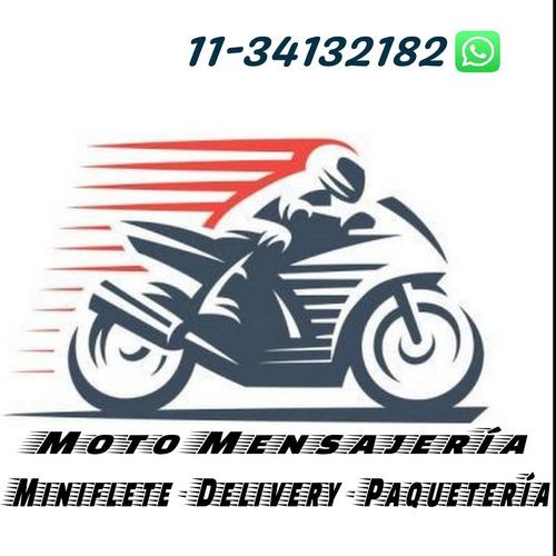 moto mensajería, miniflete, delivery y paquetería