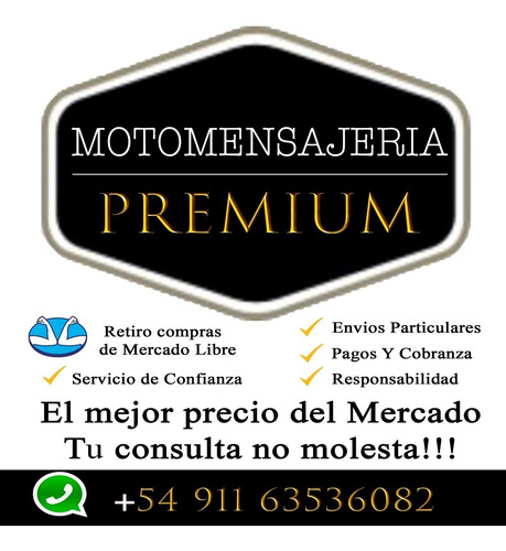 moto mensajeria premium / capital federal