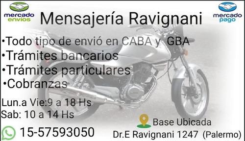 moto mensajeria ravignani, palermo, villa crespo. c/ permis