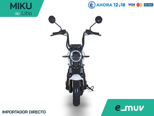 moto miku electrica emuv motor 800w bateria litio usb alarma
