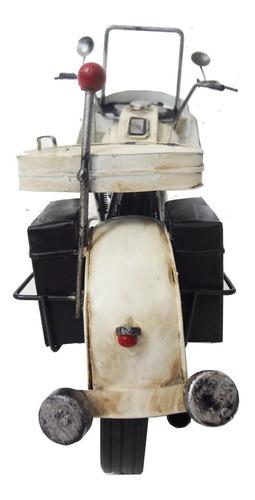 moto miniatura police londres vintage de metal fundido
