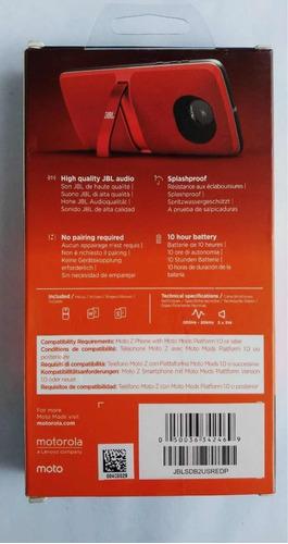 moto mod parlante jbl 2 en caja usado como nuevo