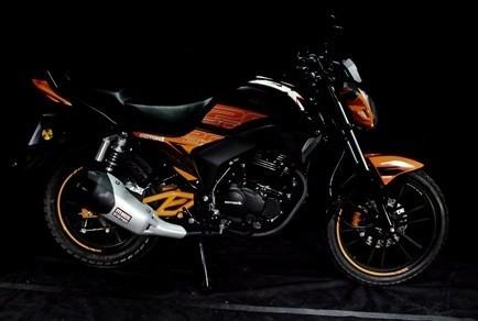 moto motor 1 fx200m año 2016 negro rojo azul