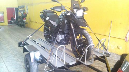 moto, motos, carreta