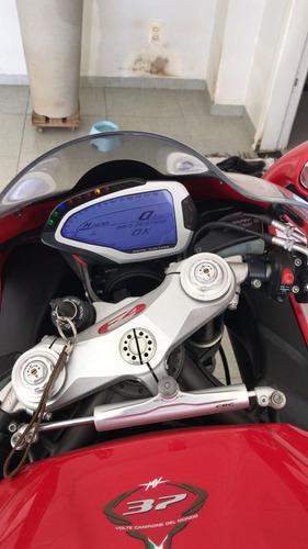moto mv agusta f4 1000r vermelha / branco modelo rr