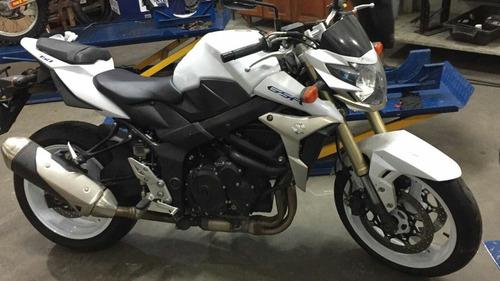 moto naked suzuki gsr-750 branca 2016