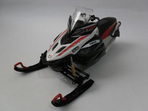 moto nieve yamaha rx-1 2008 escala 1:12 metal/plast 19 cms.