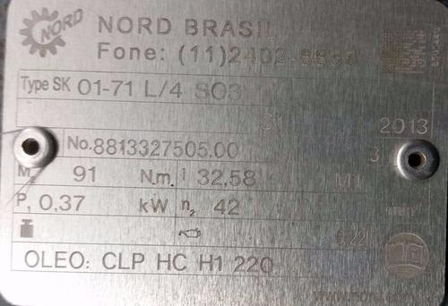 moto redutor 0,5cv 1/2cv 1/30 1x30 saida 52 rpm trifasico