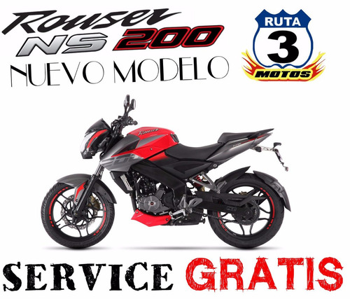 moto rouser 200 ns nacked sport 0 km 2018