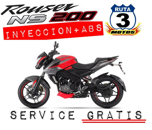 moto rouser ns 200 fi motor inyeccion abs black friday
