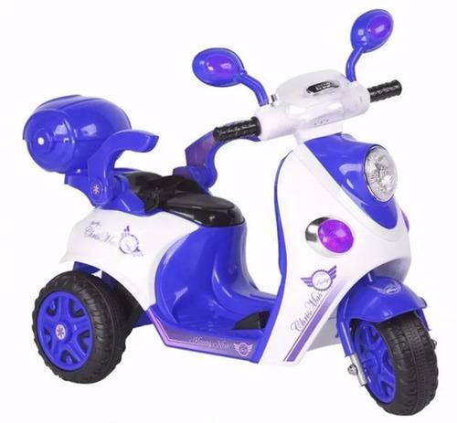 moto scooter bebesit batería c/luces sl1288 azul el cerro