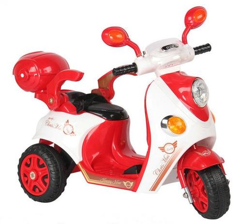 moto scooter bebesit batería c/luces sl1288 roja el cerro