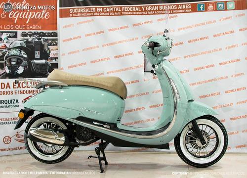 moto scooter beta tempo 150 retro baul y parabrisas 0km